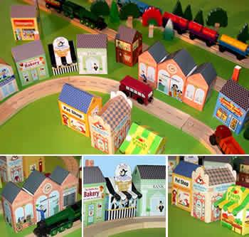 Citt in miniatura da vedere e da costruire - Come costruire una casa in miniatura ...